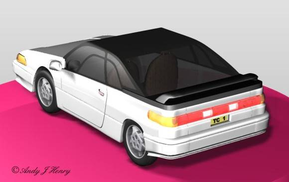 test car drawing rear