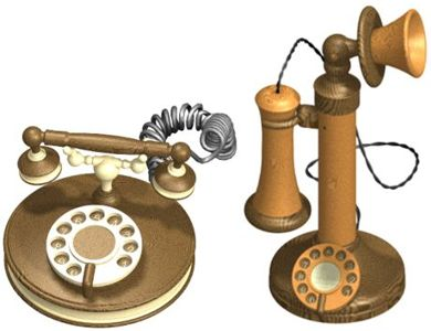 wood turned telephone