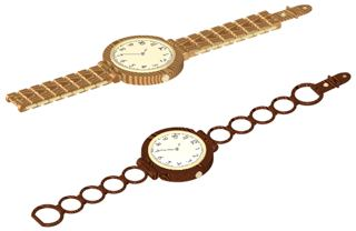 wooden decorative watches