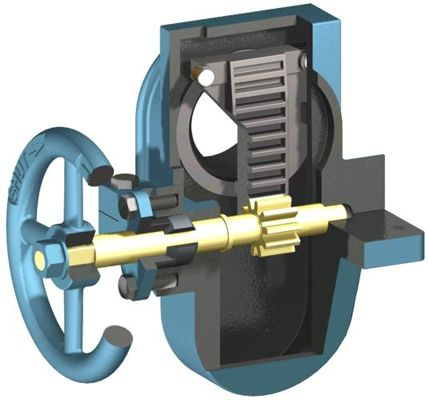 side handle gate valve cutaway